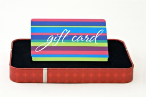 We offer gift cards